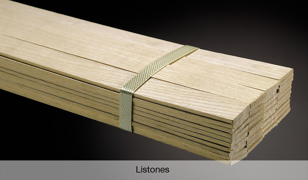 Listones de chapa de madera para cantos espesores de 1 5 - Canto para madera ...