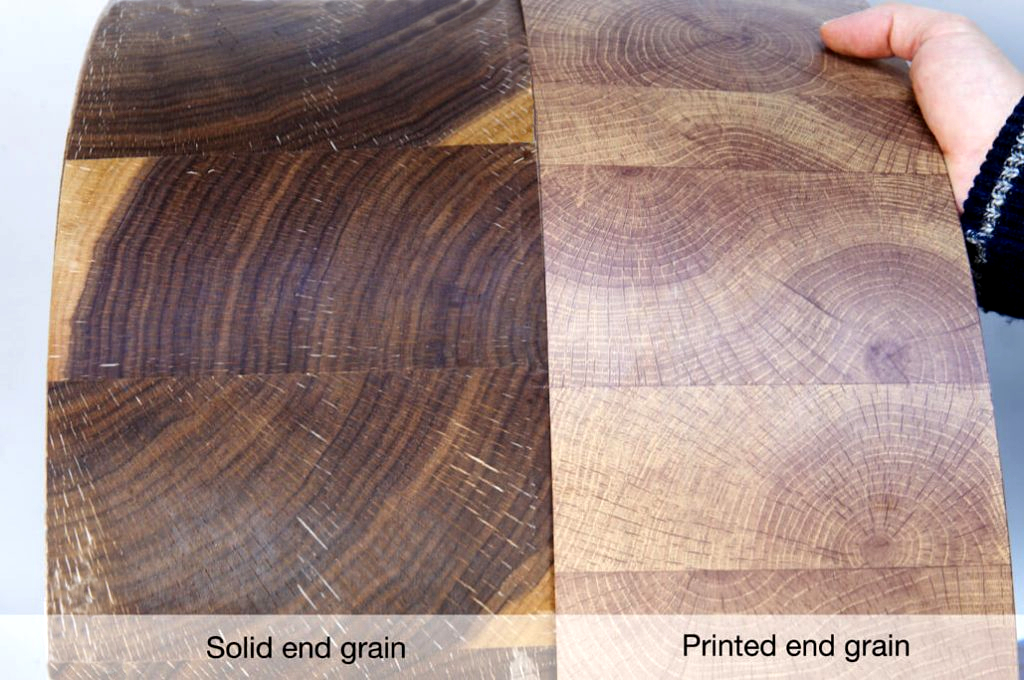 Solid end grain | Printed end grain edging