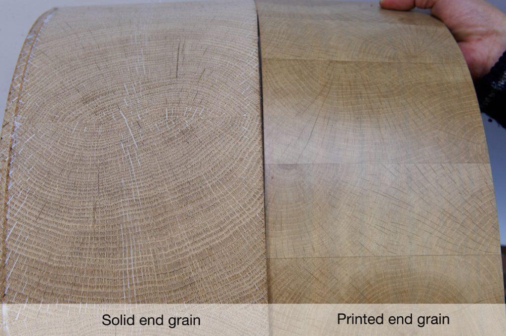 Solid end grain edgebanding   Printed end-grain edgebanding