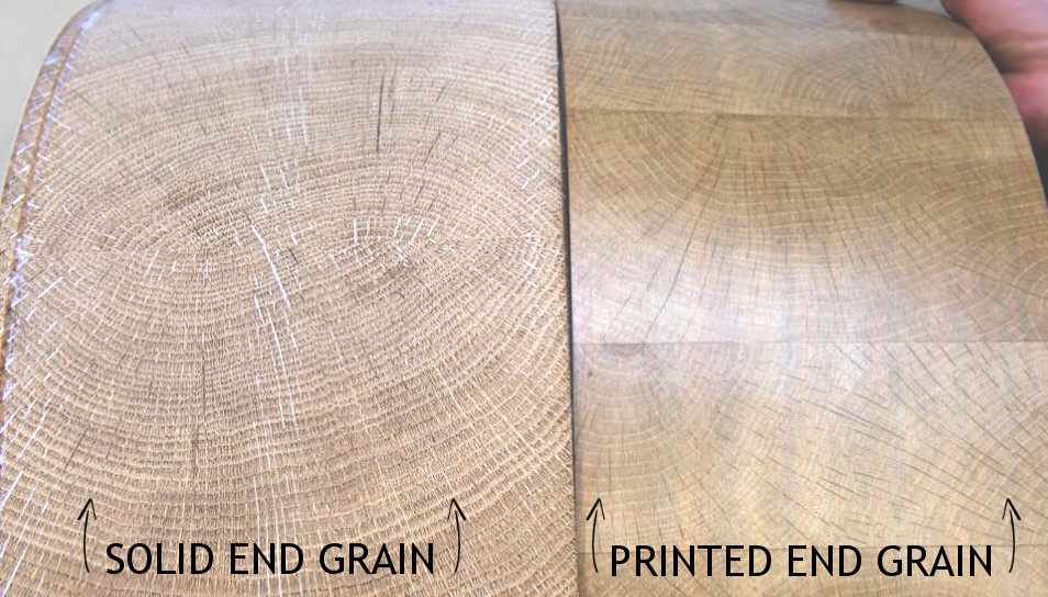 Solid end grain | Printed end grain