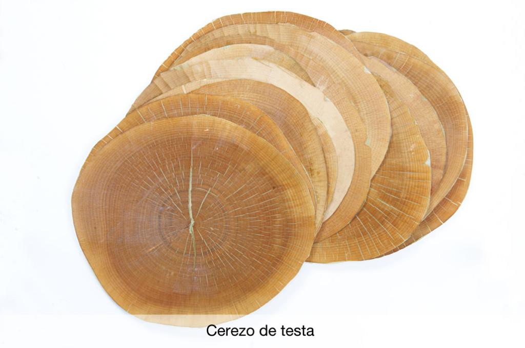 Chapa de madera de cerezo de testa