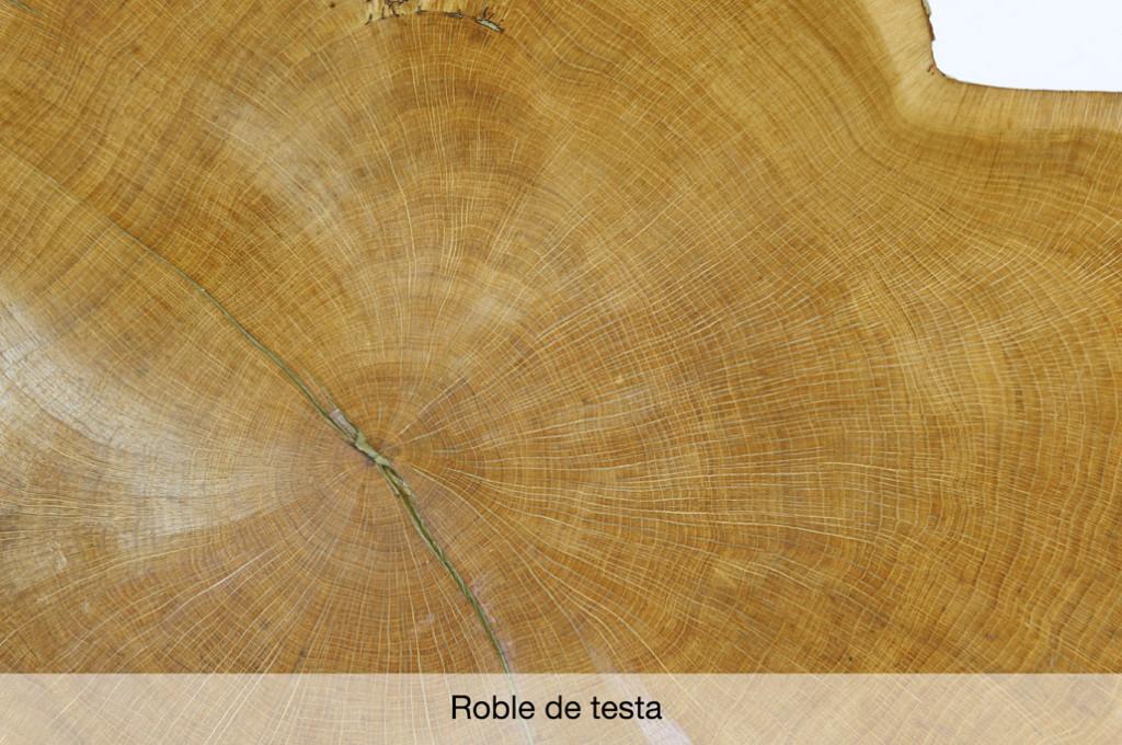 Chapa de madera de roble de testa