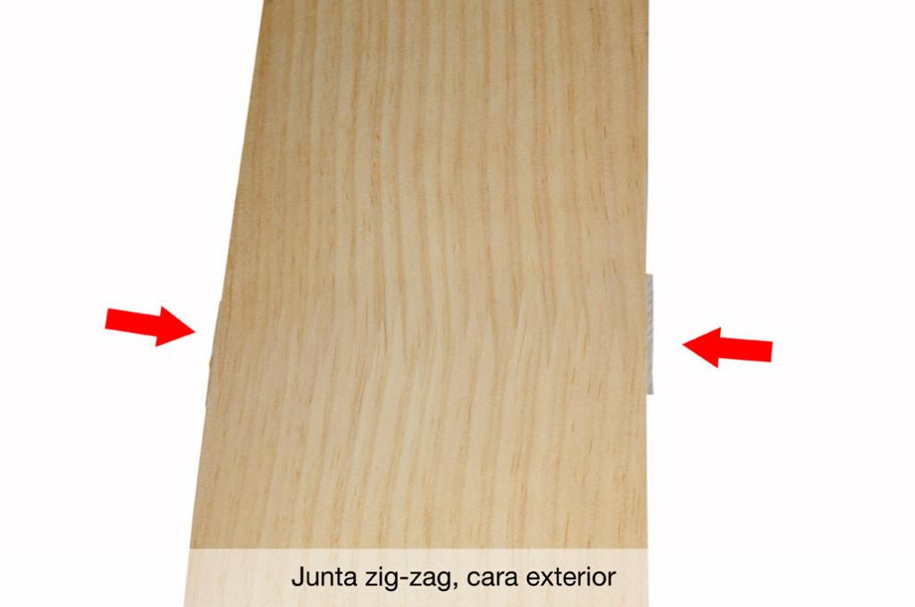 Chapa natural con Junta Zig Zag exterior