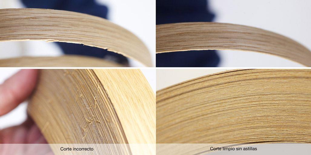 Corte rollo canto de madera