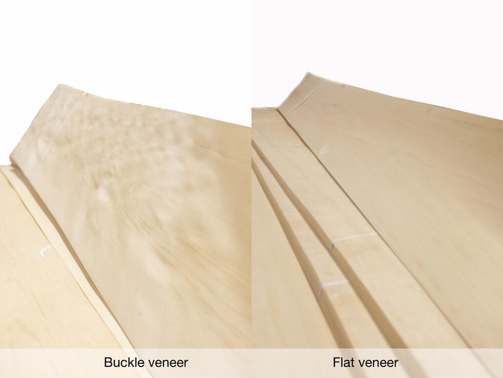 Buckle veneer Vs. Flat veneer