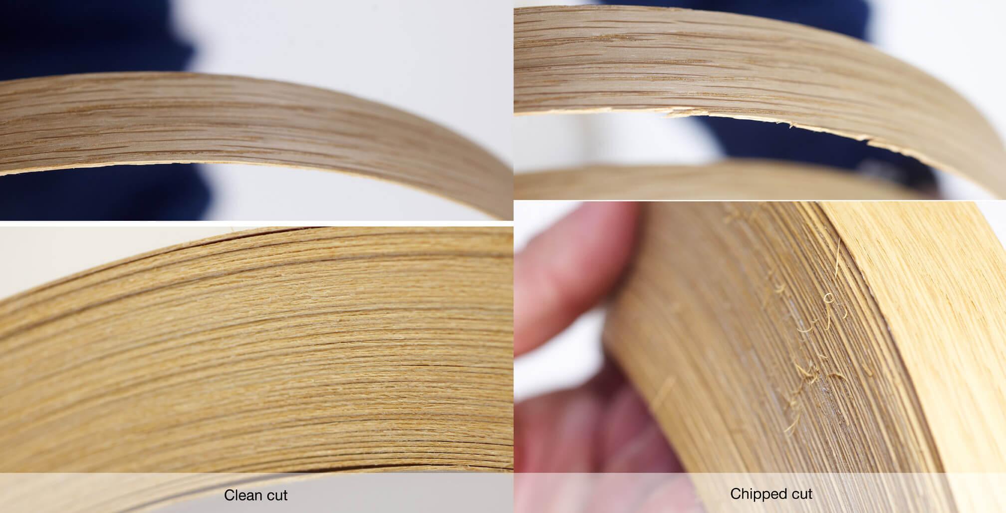 Veneer in rolls | Clean cut