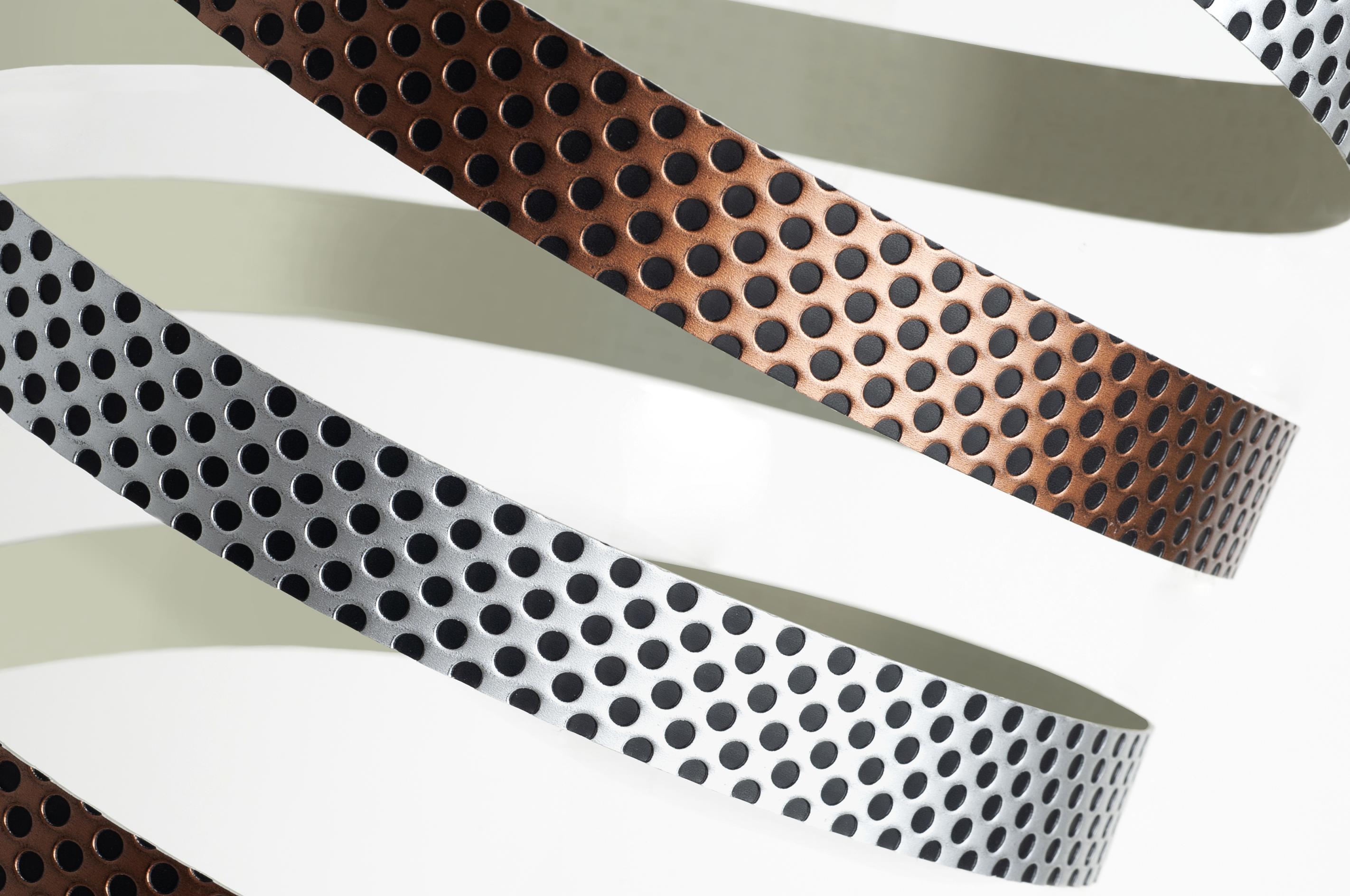 Canto efecto reja - metalizado | Grid effect edgebanding - metallic tones
