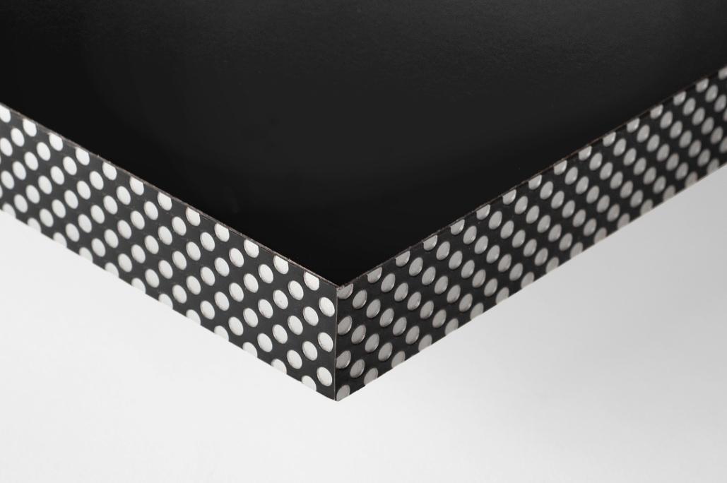 Canto efecto reja Negro/Aluminio