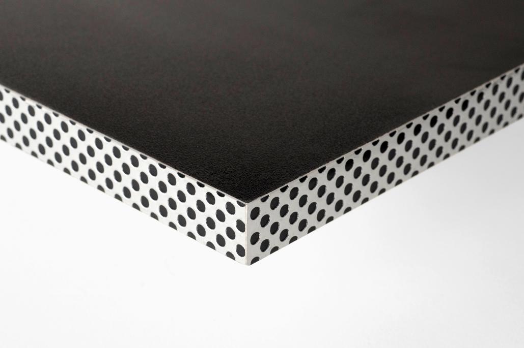 Canto efecto reja Aluminio/Negro