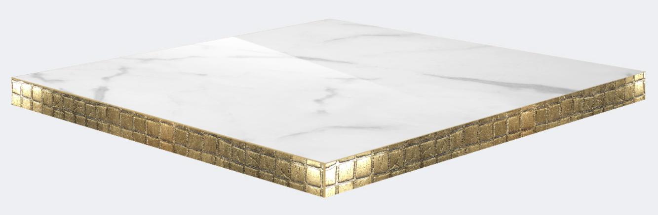 Canto mosaico PVC dorado vintage